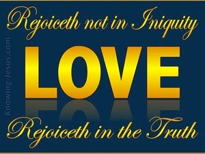 1 Corinthians 13:6 Love Rejoices In The Truth (yellow)
