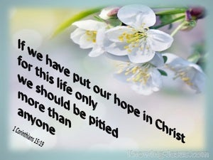 1 Corinthians 15:19 Hope In Christ (aqua)