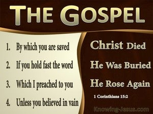 1 Corinthians 15:2 The Gospel By Which You Are Saved (brown)