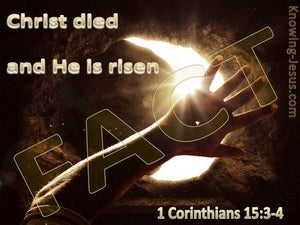 1 Corinthians 15:3 Christ Died And Is Risen (brown)