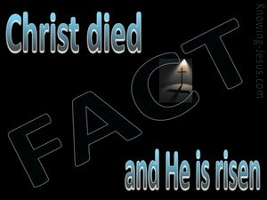 1 Corinthians 15:3,4 Christ Died And Is Risen (blue)