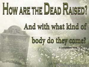 1 Corinthians 15:35 How Are The Dead Raised green