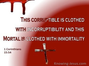 1 Corinthians 15:54 Death Is Swallowe Up In Victory (white)