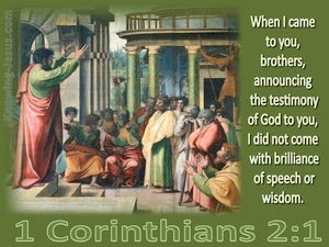 1 Corinthians 2:1 Testimony Of God (green)