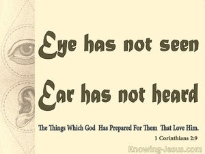 1 Corinthians 2:9 Eye Has Not Seen, Ear Has Not Heard (beige)