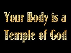 1 Corinthians 3:16 You Are A Temple of the Holy Spirit (gold)
