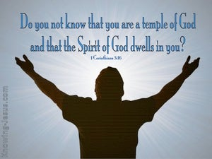 1 Corinthians 3:16 Temple Of The Holy Spirit blue