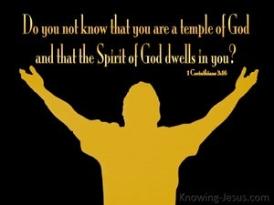1 Corinthians 3:16 Temple Of The Holy Spirit yellow