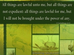 1 Corinthians 6:12 All Things Are Lawful But Not All Things Are Permissible (green)