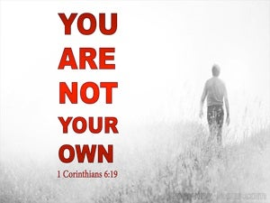 1 Corinthians 6:19 Your Body Is A Sanctury Of The Holy Spirit red