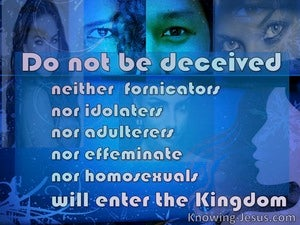 1 Corinthians 6:9 The Unrighteous Will Not Inherit The Kingdom (pink)