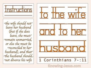 1 Corinthians 7:11 The Wife Should Not Leave The Husbnad Should Not Divorce orange