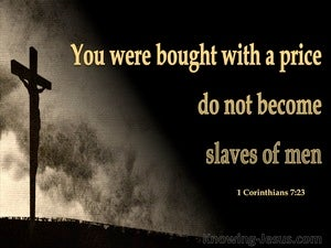 1 Corinthians 7:23 You Were Bought With A Price gold