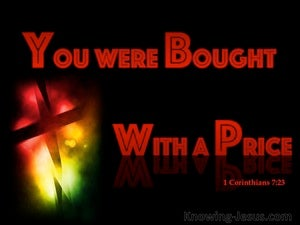 1 Corinthians 7:23 You Were Bought With A Price red