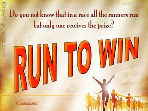 1 Corinthians 9:24 Run To Win orange
