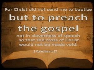 1 Corinthians 1:17 Preach The Gospel (beige)