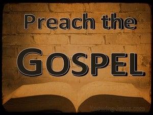 1 Corinthians 1:17 Preach The Gospel (brown)