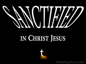1 Corinthians 1:2 Sanctified In Christ Jesus (black)