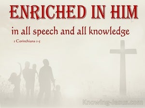 1 Corinthians 1:5 Enriched In Him (red)