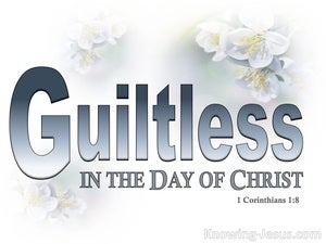 1 Corinthians 1:8 He Will Sustain You Guiltless (white)