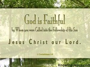 1 Corinthians 1:9 God Is Faithful (sage)