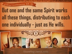 1 Corinthians 12:11 We Are All Empowered By The Same Spirit (brown)