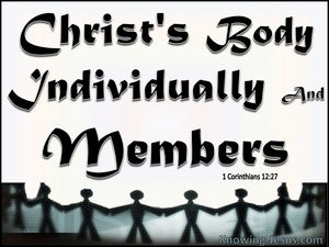 1 Corinthians 12:27 You Are Christ's Body (black)