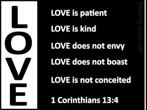 1 Corinthians 13:4 Love is Patient (black)