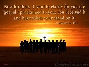 1 Corinthians 15:1 The Gospel I Proclaimed To You (orange)
