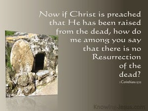 1 Corinthians 15:12 If Christ Was Not Risen (brown)