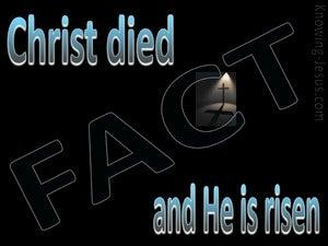 1 Corinthians 15:3,4 Christ Died And Is Risen (blue)