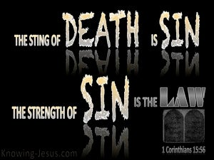 1 Corinthians 15:56 The Sting Of Death Is Sin (black)