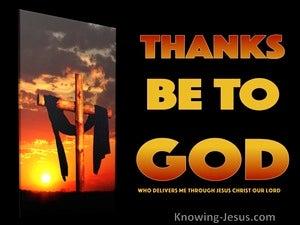 1 Corinthians 15:57 Thanks Be To God (orange)