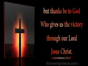 1 Corinthians 15:57 Victory Through Christ (black)
