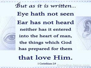 1 Corinthians 2:9 Eye Has Not Seen, Ear Has Not Heard (blue)
