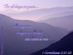 1 Corinthians 3:21 All Things Are Yours (pink)
