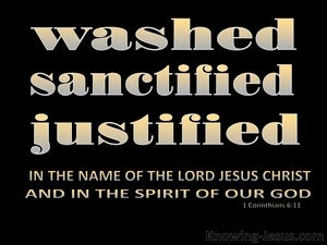 1 Corinthians 6:11 You Were Washed, Sanctified, Justified (black)