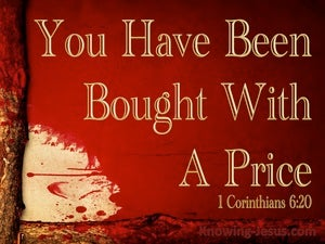 1 Corinthians 6:20 Bought With A Price (gold)