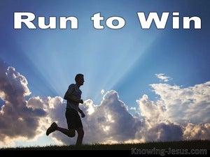 1 Corinthians 9:24 Run To Win (blue)