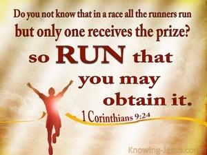 1 Corinthians 9:24 Run To Win (brown)