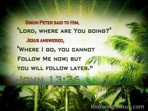 John 13:36 Where Are You Going (white)