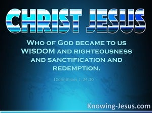 1 Corinthians 1:24 Wisdom From Above (devotional)02:13 (aqua)