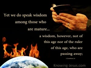 1 Corinthians 2:6 Speaking Wisdom Among The Mature (black)