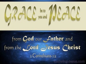 2 Corinthians 1:2 Grace Be To You And Peace blue
