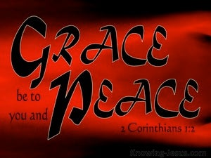 2 Corinthians 1:2 Grace Be To You And Peace red