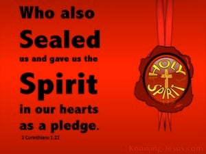 2 Corinthians 1:22 Sealed And Given The Holy Spirit red