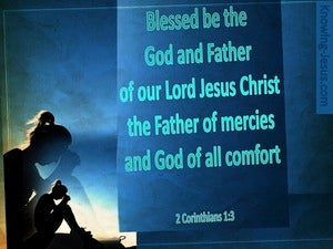 2 Corinthians 1:3 The God Of Comfort blue