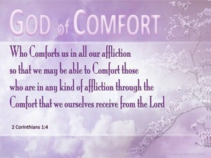 2 Corinthians 1:4 God Of All Comforts pink
