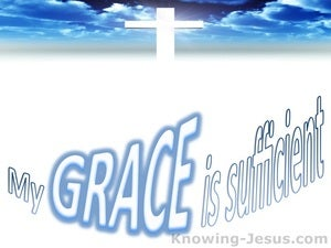2 Corinthians 12:9 My My Grace Is Sufficient blue
