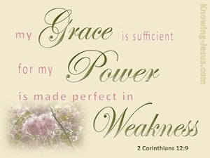 2 Corinthians 12:9 My Grace Is Sufficient beige